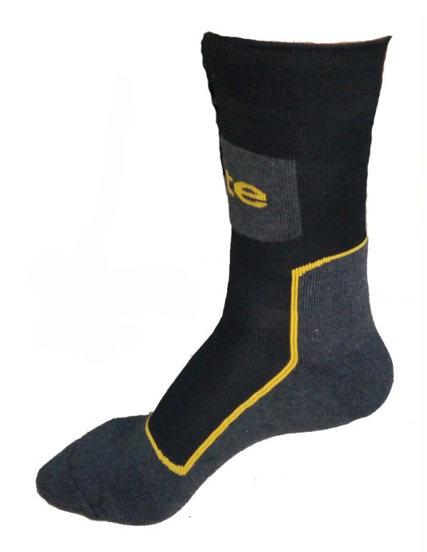 SITE WORK SOCKS BLACK / GREY SIZE 7-11