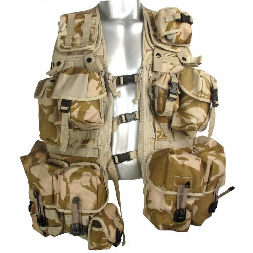 UK Army load caring vest - 13 modules included