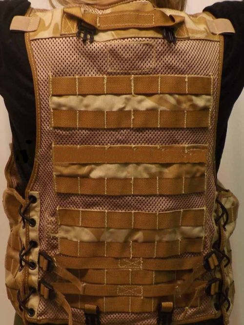 UK Army load caring vest - 7 modules included
