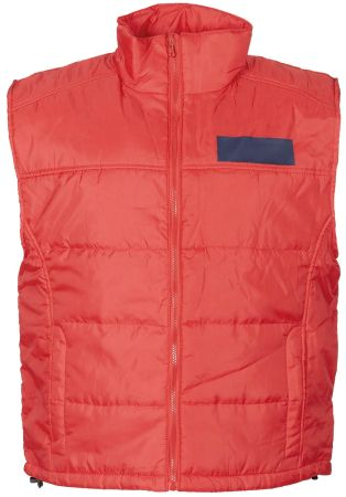 Army quilted vest - Red