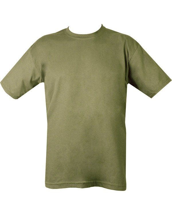 Military Plain T-shirt - Olive Green