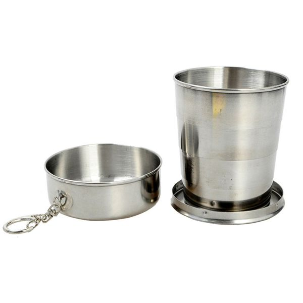 Drinking Cup, telescope, Stainless Steel, 15 cl