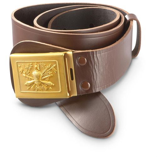 Army leather belt with current - Italy