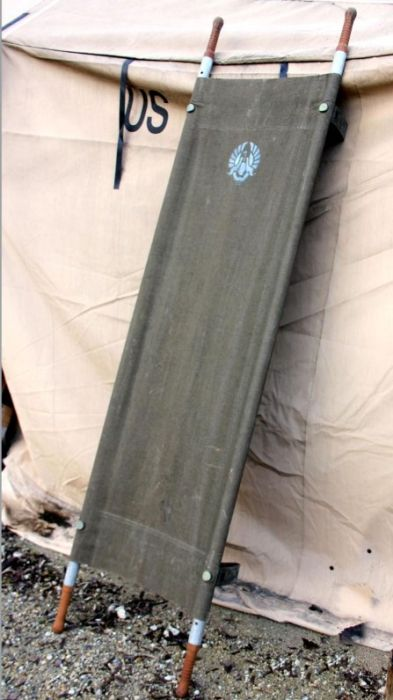 French army field folding stretcher