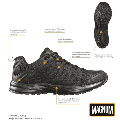 "Low Shoes, ""MAGNUM"", Storm Trail Lite, black"