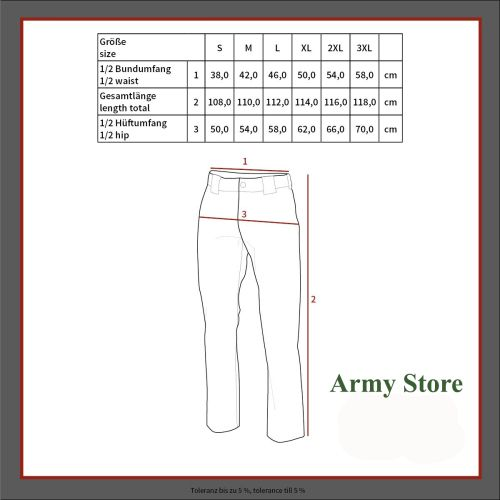 "Soft Shell Pants, ""Allround"", OD green"