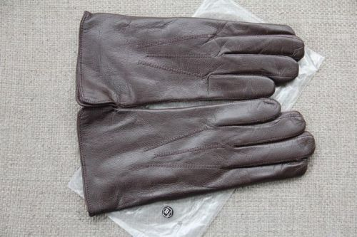 Army leather gloves - Belgium-Brown