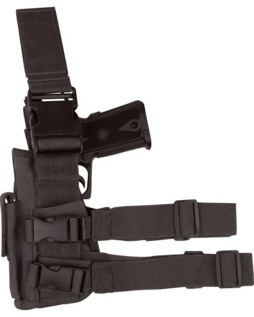 Tactical Leg Holster, Left hand - Black
